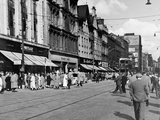 Looking East Along Argyle Street on a Saturday Afternoon, 1955 Photographic Print