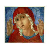 "The Mother of God: ""The Tenderness of Cruel Hearts"", 1914-15 Giclee Print by Kuzma Sergeevich Petrov-Vodkin"