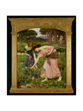 'Gather Ye Rosebuds While Ye May', 1909 Giclee Print by John William Waterhouse