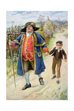 Mr Bumble and Oliver Twist, Illustration for 'Character Sketches from Dickens' Compiled by B.W.… Giclee Print by Harold Copping