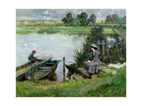 The Thames at Benson, 1912 Giclee Print by Albert Chevallier Tayler