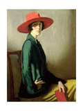 Lady with a Red Hat Giclee Print by William Strang