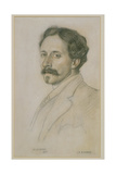 Portrait of Charles Robert Ashbee (1863-1942) 1903 Giclee Print by William Strang