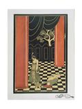 Tamara Karsavina (1885-1978) in Fokine's 'Thamar' in 1912, Pub. 1914 Giclee Print by Georges Barbier