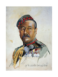 Subadar-Major Gurung Gurkha, Illustration from 'Armies of India' by Major G.F. MacMunn, Published… Giclee Print by Alfred Crowdy Lovett