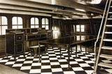 Nelson's Dining Room Onboard the HMS Victory Photographic Print by  English Photographer