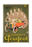 Advertisement for the Peugeot Quadrilette Giclee Print by Michel, called Mich Liebeaux