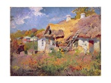 Ukrainian Cottages, 1906 Giclee Print by Petr Levchenko