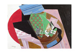 Draughtboard and Playing Cards Giclee Print by Juan Gris