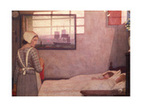 Sleeping Children with their Nurse Gicleetryck av Frederick Cayley Robinson