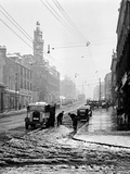 Winter Scene in Great Western Road, 1955 Photographic Print