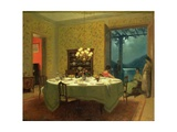 Interior with Tea Table Giclee Print by Marcel Rieder