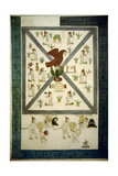 Replica of the Front Cover of the 'Codex Mendoza' Depicting the Founding of Tenochtitlan Giclee Print by  Mexican School