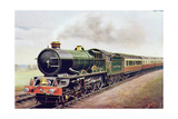 'King George V' of the G.W.R Cornish Railway Express, Illustration from 'The Wonder Book of… Lámina giclée por English School