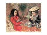 Tea Time, c.1900 Giclee Print by Emile Alfred Dezaunay