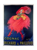 Poster Advertising Cognac Distilled by Richard and Pailloud Gicléetryck av Jean D'Ylen