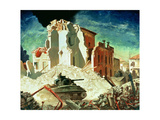 Canadian Armour Passing Through Ortona, 1944 Giclee Print by Charles Fraser Comfort