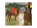 At the Races at Auteuil, 1907 Giclee Print by Leon Georges Carre