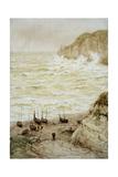 Beer Cove in a Storm, 1922 Reproduction procédé giclée par Frank Dadd