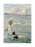 Girls Bathing Giclee Print by Paul Fischer