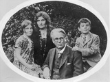 William Butler Yeats (1865-1939) with His Wife Georgie Hyde Lee and Children Anne and Michael Photographic Print by  Irish Photographer
