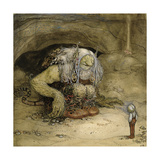 The Troll and the Boy Giclee Print by John Bauer
