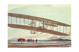 The Wright Brothers at Kitty Hawk, North Carolina, in 1903 Giclee Print by  American School