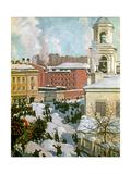 February 27, 1917 Giclee Print by Boris Mihajlovic Kustodiev