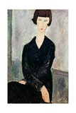 Woman in Black Dress Stampa giclée di Amedeo Modigliani