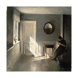 Girl Reading a Letter in an Interior, 1908 Giclee Print by Peter Vilhelm Ilsted