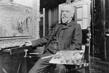 Leon Augustin Lhermitte (1844-1925) c.1905 Photographic Print by  Dornac