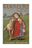 Poster Advertising Nestle's Milk, 1900 Giclee Print by  English School
