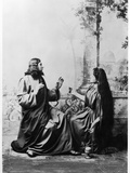 Apparition of Jesus Christ to Mary Magdalene from the Passion Play at Oberammergau, 1900 Photographic Print by  Schweyer