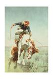 Bronc Rider, 1908 Giclee Print by William Herbert 'Buck' Dunton