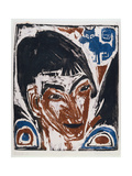 Portrait of Otto Mueller (1874-1930) 1915 Giclee Print by Ernst Ludwig Kirchner