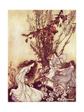 """Dancing with the Fairies"" from 'Peter Pan in Kensington Gardens' by J.M. Barrie, 1906 34:Peter… Gicleetryck av Arthur Rackham"