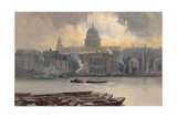 St.Paul's from the River Giclee Print by George Hyde Pownall