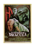 Poster Advertising the French Version of the Film, 'The Horror of Dracula' Giclee Print by  French School