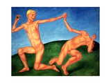 The Playing Boys, 1911 Giclee Print by Kuzma Sergeevich Petrov-Vodkin
