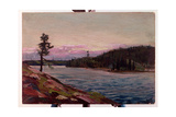 A Northern Canadian Lake Giclee Print by Thomas John Thomson