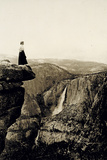 Looking across the Valley to Yosemite Falls, USA, 1917 Reproduction photographique par  Underwood & Underwood