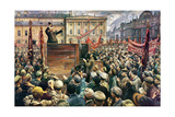 Vladimir Ilyich Lenin (1870-1924) Addressing the Red Army of Workers on 5th May 1920, 1933 Giclee Print by Isaak Israilevich Brodsky