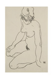 Seated Female Nude, 1918 Giclee Print by Egon Schiele
