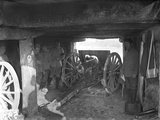 A 75 Cannon in a Shelter Photographic Print by Jacques Moreau