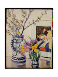 Still Life with Flowers in a Vase Giclee Print by Rowley Leggett
