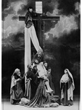 Descent from the Cross from the Passion Play at Oberammergau, 1900 Photographic Print by  Schweyer