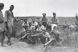 Machine Gun Crews with Vickers Machine Gun, Lewis Gun and Rangefinder, Mesopotamia, World War I Photographic Print by  English Photographer