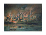 Fire at the Houses of Parliament, 16th October 1834 Giclee Print by P.T. Cameron