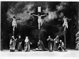 Crucifixion Scene from the Passion Play at Oberammergau, 1900 Photographic Print by  Schweyer