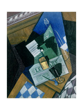 Still Life with Water Bottle, Bottle and Fruit Dish, 1915 Giclee Print by Juan Gris